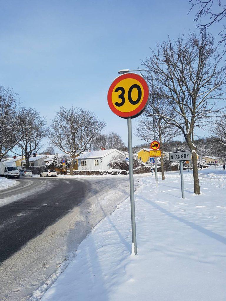 Förslag till nya hastighetsgränser – Beckombergavägen